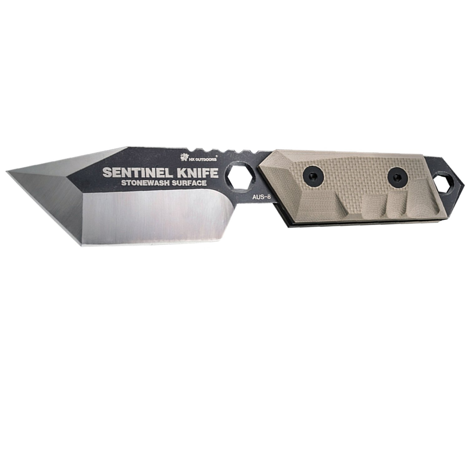 SENTINEL- outdoors survival tactical knife fixed blade knives with sheath tanto knife special forces tactical knife G10 Handle