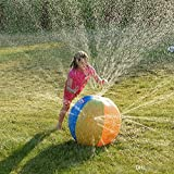 Synergi Brands Amazing 29'' Rainbow Beach Ball, Inflatable Outdoor Sprinkler Fun For All