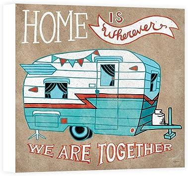 Impresión sobre Lienzo Wall Art Urban Mary Adventure Love Camper Taupe: Amazon.es: Hogar