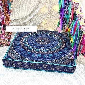 Amazon.com: GANESHAM - Funda de cojín de estilo bohemio ...