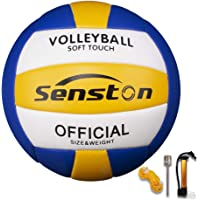 Senston Soft Volleyball - Waterproof Indoor/Outdoor for Beach Play, Game,Gym,Training Official Size 5