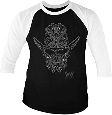 Officially Licensed Westworld Logo 3//4 Sleeve Baseball T-Shirt S-XXL Sizes