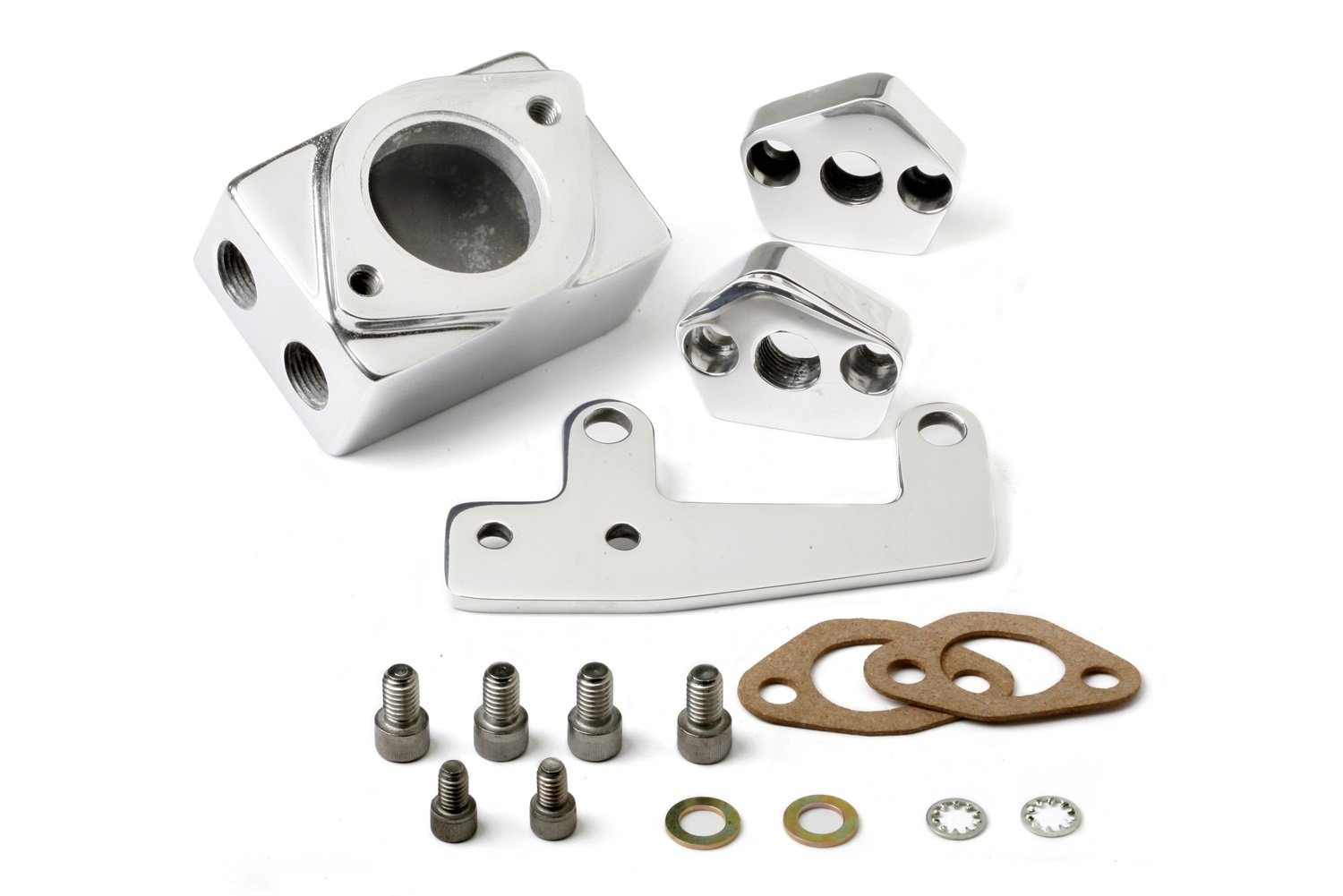 Weiand 7132P Supercharger Polished Remote Thermostat Housing