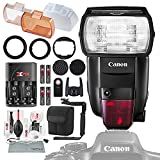 Canon Speedlite 600EX II-RT Flash Stacking Grid Light Modifier System, Rotating Flash Bracket, Xpix Battery & Charger Kit Deluxe Camera Flash Bundle