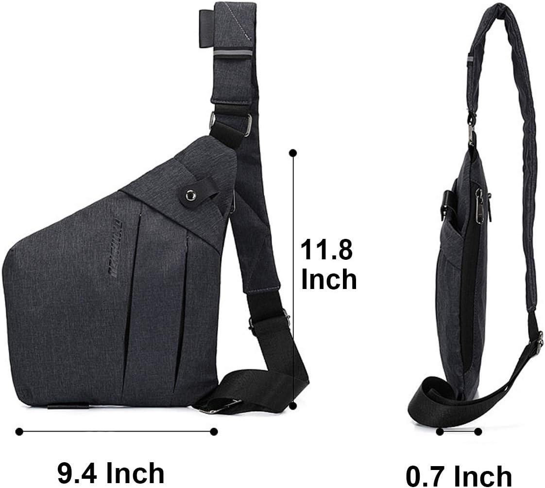 TOLOG Sling Bag Lightweight Shoulder Crossbody Bags Slim Anti Theft Multipurpose Chest Daypacks for Casual Sport Travel Hiking