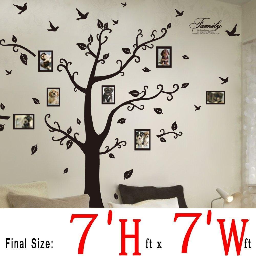 Amazon bogzon kiss birds trees hearts leaves black photo dagou huge 7 fth x 7 ftw amipublicfo Images