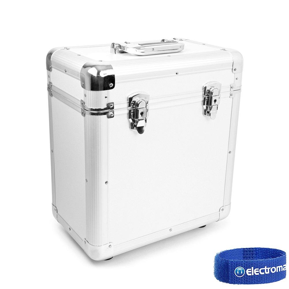 Power Dynamics PD LP 80 x 12 Vinyl Record Box Storage Flight DJ Case Silver Tronios BV