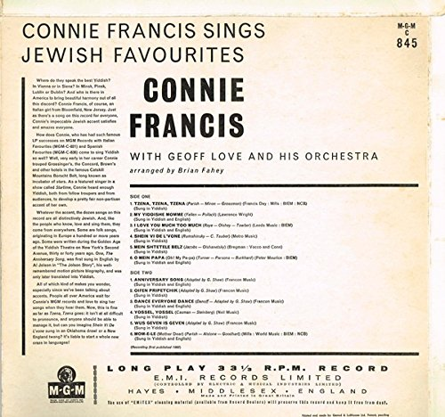 Connie Francis Sings Jewish Favorites