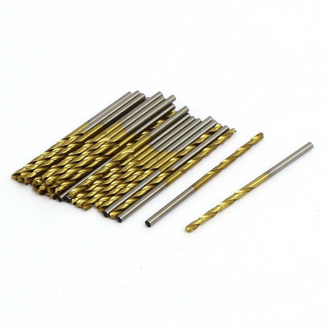 30 piezas 2 flautas broca chapada en titanio giratoria v/ástago recto model: N5164IVVIII-9616OS Aexit Broca de 1,7 mm de di/ámetro 43 mm de longitud