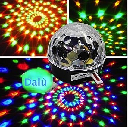 Mini Proiettore Effetto Luci Laser Per Disco Discoteca Dj.Kk Light Luce A Sfera Da Discoteca Telecomando Per Mp3