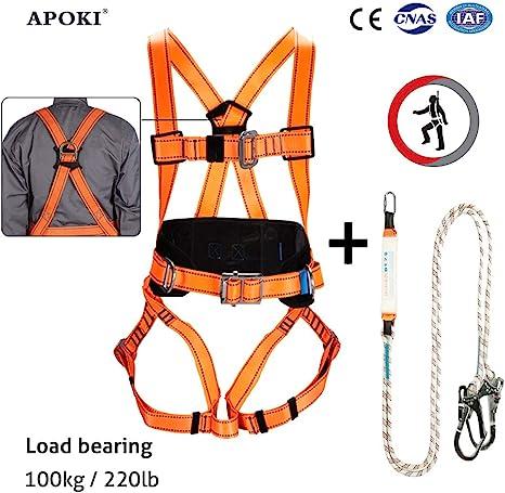 Arnés de escalada, kit de arnés de cuerpo completo, certificado CE ...