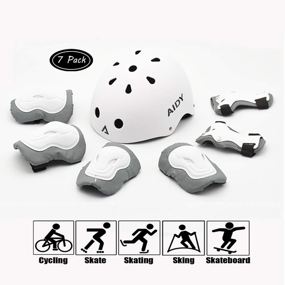 GYL-JL Kid's Protective Gear Set Cycling Sports Pads White