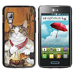 PC/Aluminum Funda Carcasa protectora para LG Optimus L5 II Dual E455 E460 Cat Pope God Vatican Shorthair Necklace / JUSTGO PHONE PROTECTOR