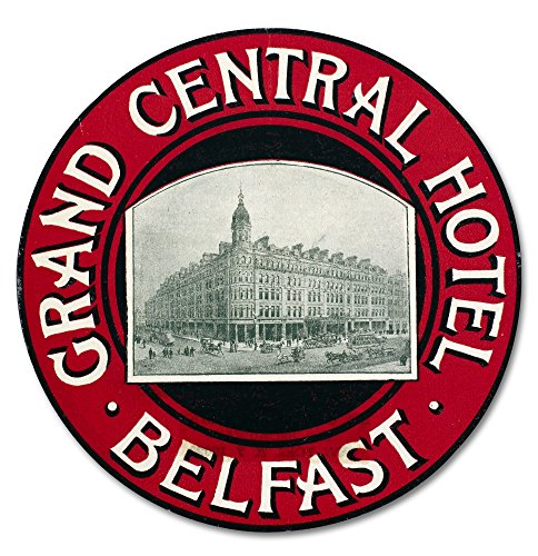 Luggage Label Nluggage Label From The Grand Central Hotel In Belfast Ireland Early 20Th Century Poster Print by (24 x 36) -