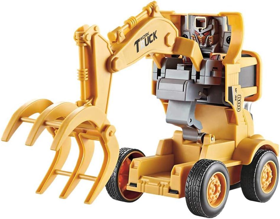 biteatey Coches Y Camiones De Juguete Excavadora De Construcción Modelo De Camión Juguete Deformación Ingeniería Camión Excavadora, Modelos De Equipos De Construcción para Niño Contribution: Amazon.es: Hogar