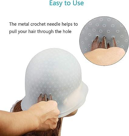 Tinte de silicona para el cabello, herramienta de peinado reutilizable para coloración con gancho para peluquería