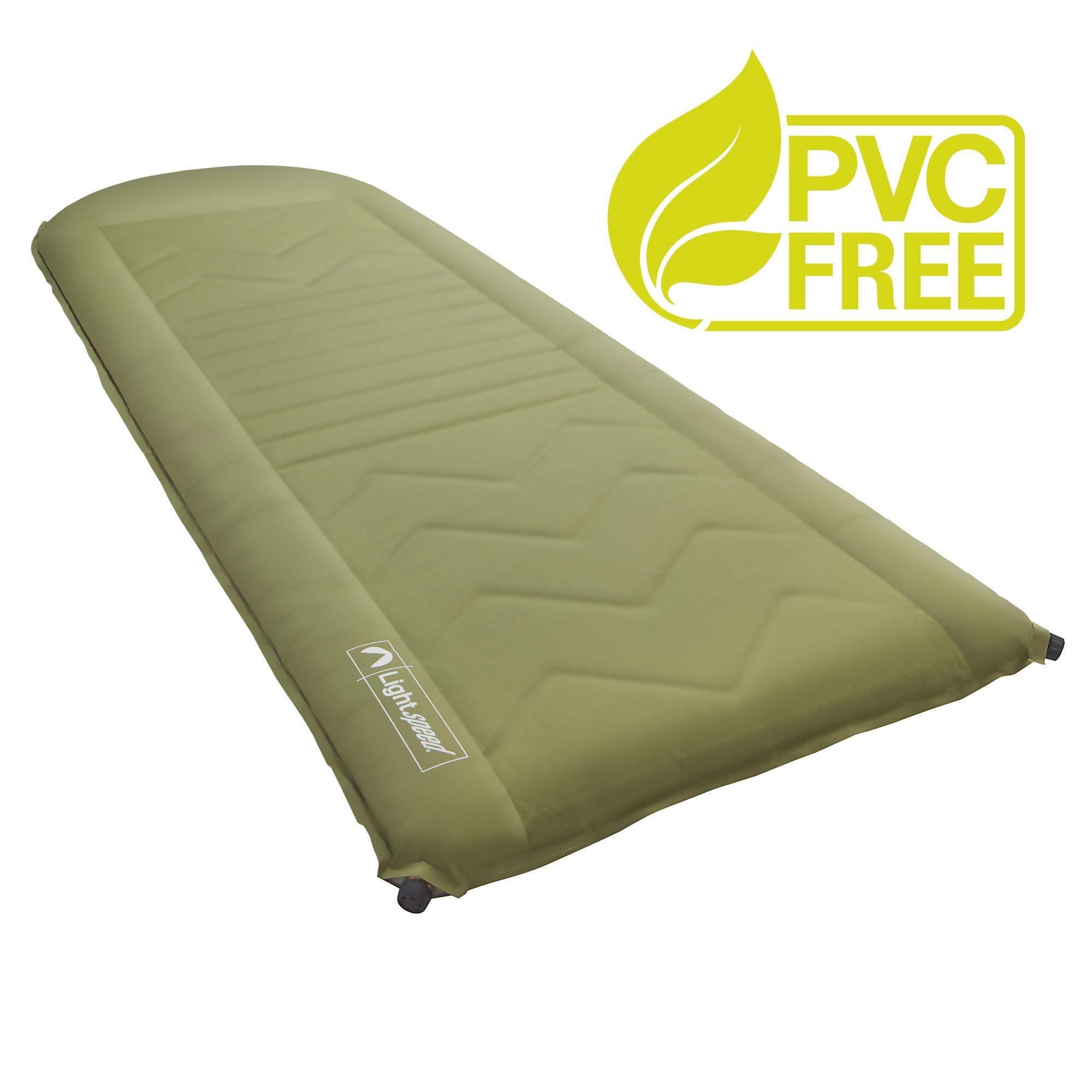 Lightspeed Outdoors Self Inflating Sleep Pad (Green/Brown) by Lightspeed Outdoors