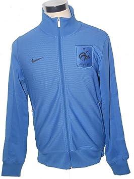 Nike Francia FFF N98 azul cremallera completa fórmense fútbol Chaqueta 449703 404, atlético, hombre, color Azul - azul claro, tamaño large: Amazon.es: ...