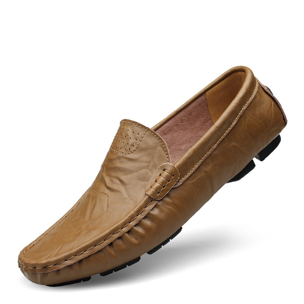 CAI Zapatos Perezosos de Cuero Genuino de los Hombres 2018 Mocasines y Deslizadores de la Primavera/caída Zapatos de conducción para Hombre Daily/Travel ...