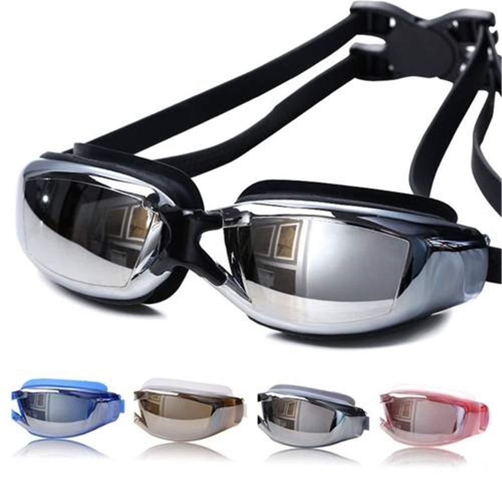 GJLGOU,Waterproof Professional AntiFog Glasses UV Predection HD Swimming Goggles,Black