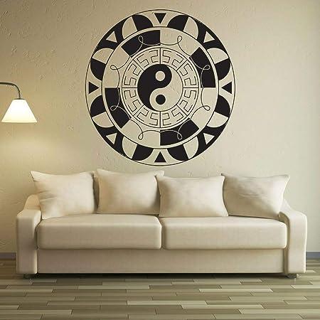 Geiqianjiumai Mandala Flower Vinyl Wall Mount Logo Yoga ...
