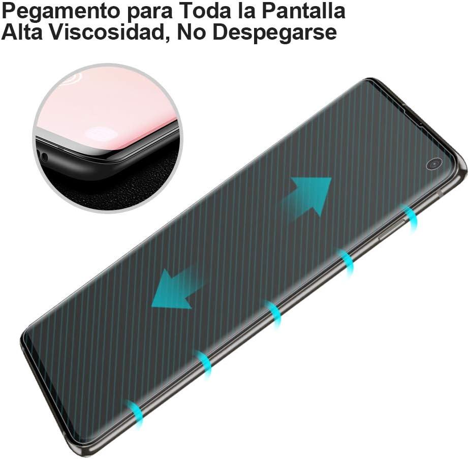 ,Cristal Vidrio Templado//Protector de Pantalla para Samsung Galaxy S10 AsBellt Protector Pantalla de Galaxy S10 Pegamento en Toda la Pantalla 9H Dureza Alta sensibilidad