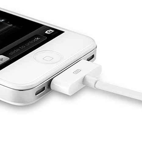 Aibocn Apple MFi Certified 2 Pack 30 Pin Sync and Charge Dock Cable for iPhone 4 4S / iPad 1 2 3 / iPod Nano/iPod Touch - White