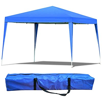 Mandycng Portable Patio Giant Canopy, Backyard Garden Celemony Folding Tent Gazebo, 10'x10' Outdoor Sports Picnic BBQ Dinner Wedding Birthday Party Event Shelter, Sunlight&Rain Protection, Blue : Garden & Outdoor