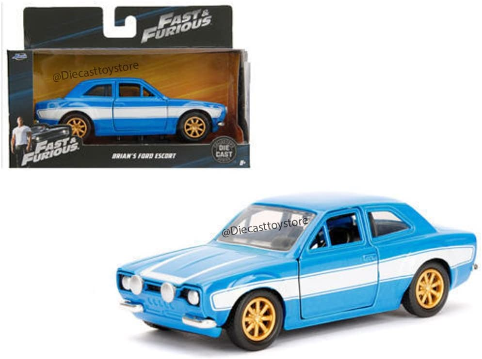 1:24 Jada FORD ESCORT MK I rs2000 Fast /& Furious Brian Blue//White