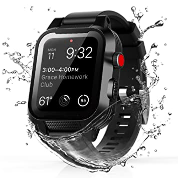 TENCOU IP68 Waterproof Case for 38mm Apple Watch Series 3 & 2 with Strap,Heavy Duty Shockproof Impact Resistant iWatch Sealed Case with Premium Soft ...