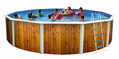 TOI - Piscina desmontable redonda decorada modelo veta - 640x120