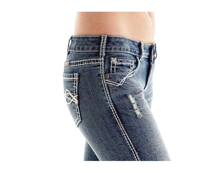 Cowgirl Tuff Women's Honey II Medium Distressed Wash Jeans-24 Reg, JHNYTH