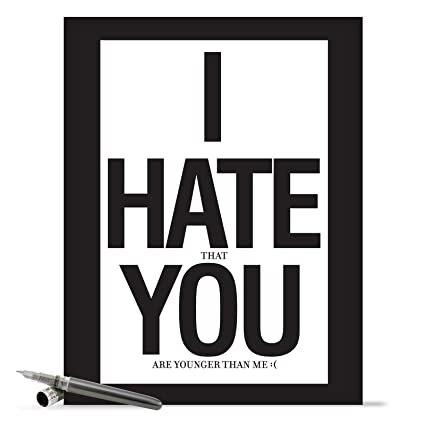 Amazon I Hate You Birthday Card Big Bday Card With Envelope