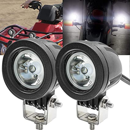 img buy Motorcycle LED Fog Lights,20W Spot Driving Lights Round Cree LED Offroad Motorcycle Bike Lights for Truck Car ATV UTV SUV Jeep Boat