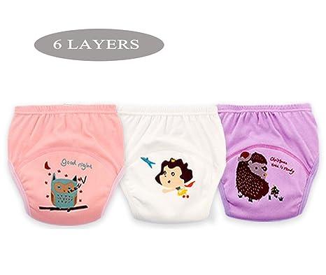 Pantalones de entrenamiento de algodón 100% Ropa interior Niños niñas impermeables, Ropa de pañales