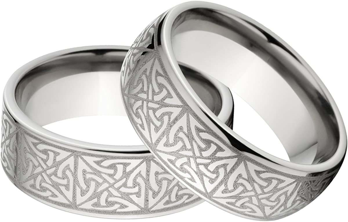 New His And Her S Matching Celtic Ring Set Celtic Wedding Rings