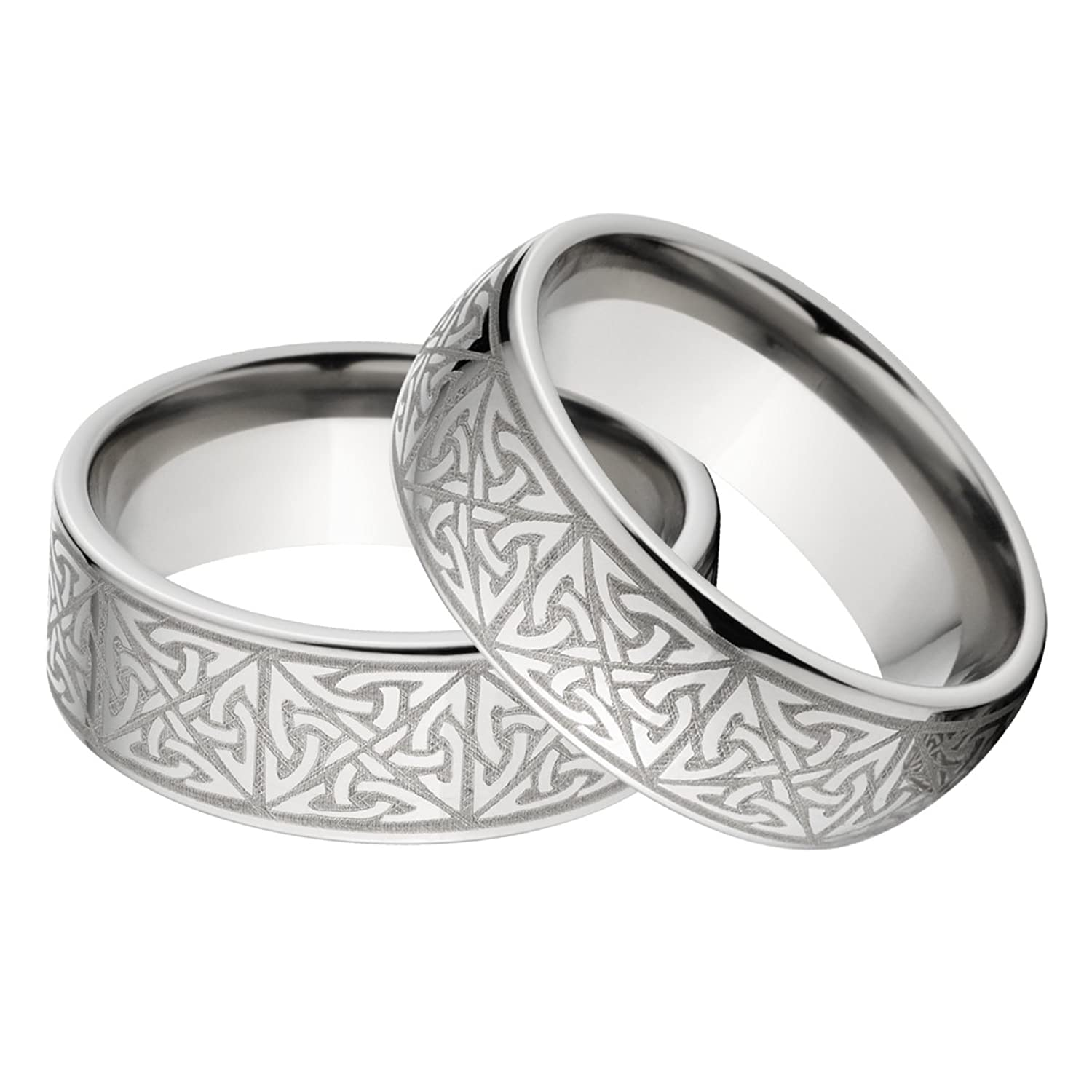 new his and hers matching celtic ring set celtic wedding ringsamazoncom - Wedding Rings Amazon