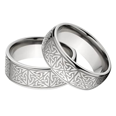 new his and hers matching celtic ring set celtic wedding rings - Celtic Wedding Ring Sets