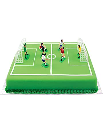 PME Decoraciones de Fútbol para Pasteles y Magdalenas, Juego de 9