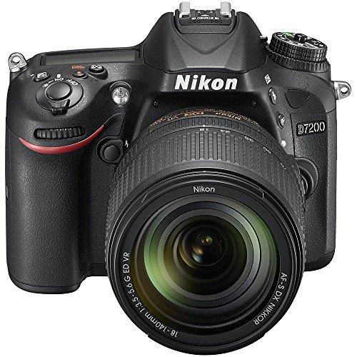 Nikon D7200 24.2 MP DX-format Digital SLR Camera with 18-140mm VR Lens (Black)(Certified Refurbished)