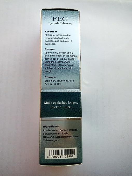18a4d1718a7 Amazon.com: FEG Eyelash Enhancer Eye Lash Rapid Growth Serum Liquid 100%  Original 3ml: Beauty