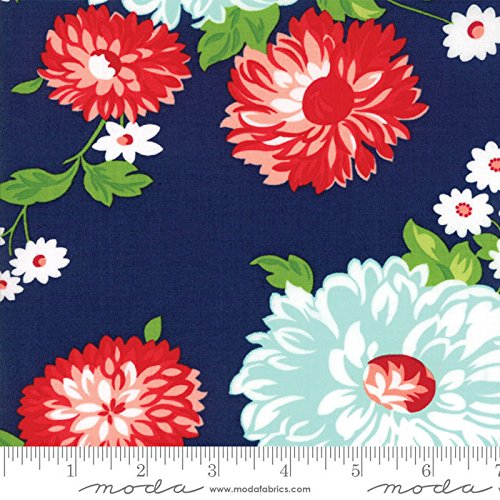 United Notions & Moda Fabrics The Good Life Bonnie and Camille Quilt Fabric Scrumptious Navy Style 55150/16