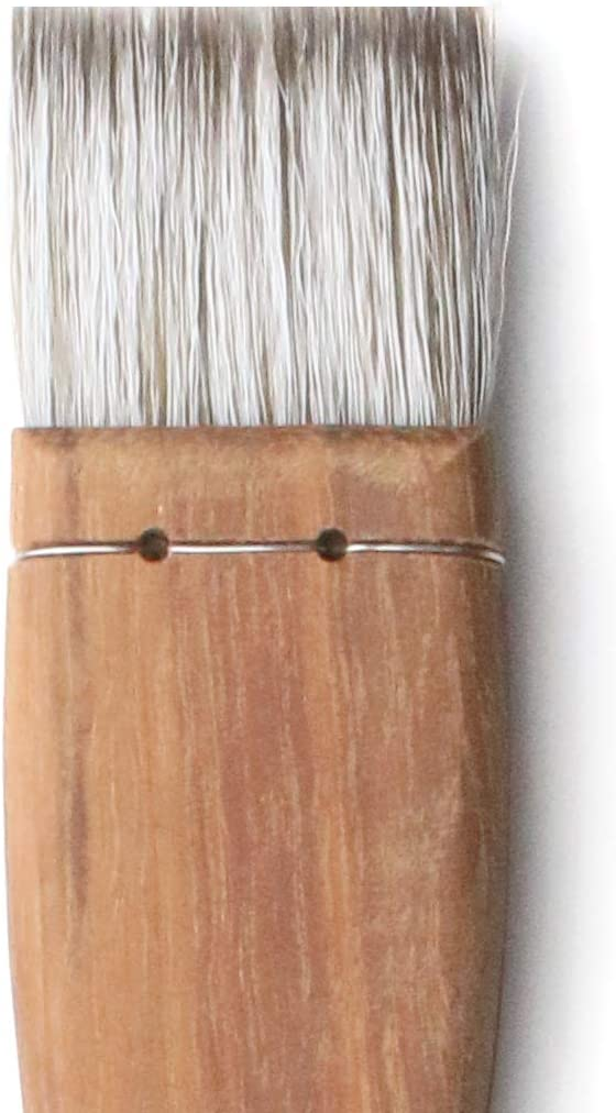 Herend Brush Series F-1700 (25mm ~ 100mm) for Watercolor with Goat Hair/Hake Flat Paintbrush (30mm)