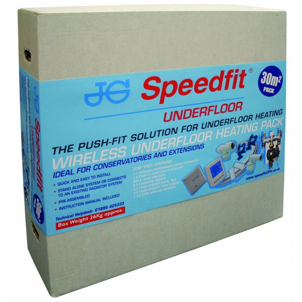 JG Speedfit Wireless Underfloor Heating Pack 30m2 Single Room ...