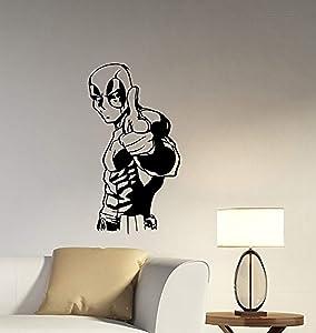 Deadpool Removable Wall Decal Vinyl Sticker Marvel Comics Superhero Decorations for Home Bedroom Teen Kids Boys Room Decor dpl1
