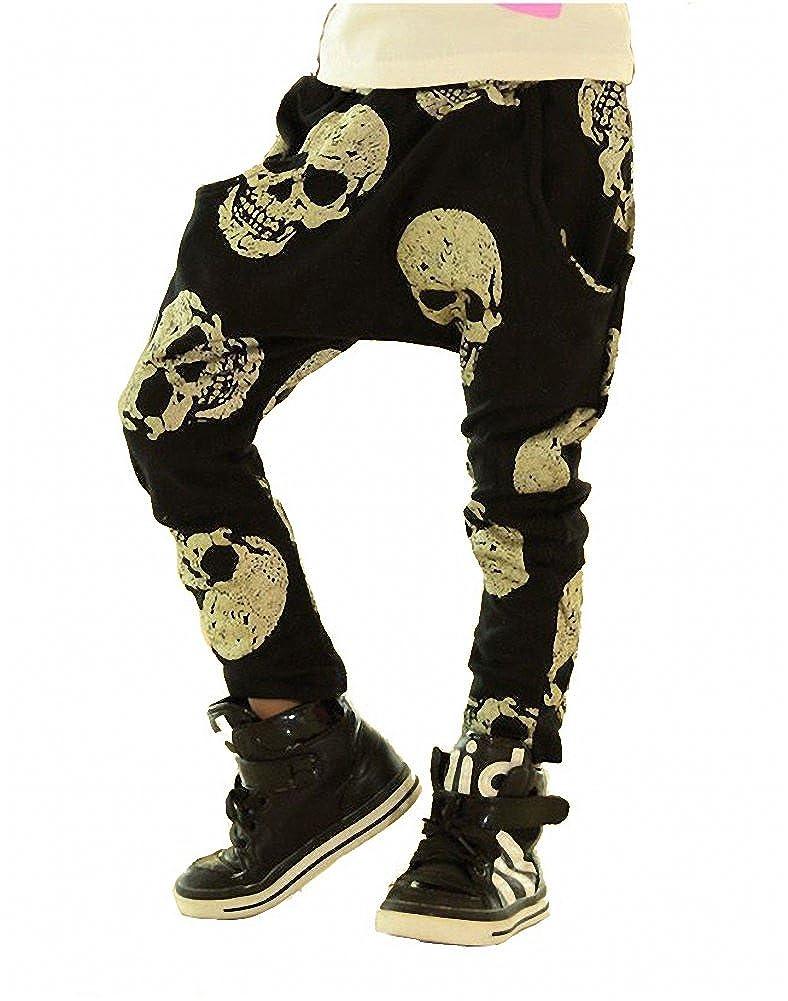 Romapig Girls Gold Skull Harem Pants 3-7y