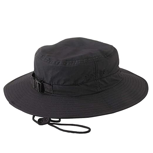 edf0eabefe3 Amazon.com  BX NYLON SAFARI GUIDE HAT (BLACK) (OS)  Sports   Outdoors