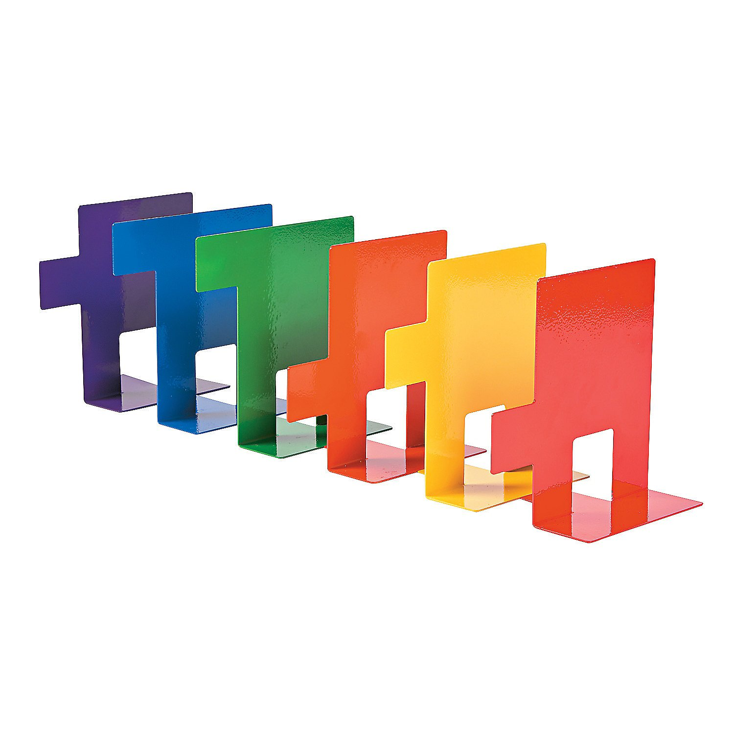 Fun Express Rainbow Bookends (6 Piece Set) Assorted Bright Colors by Fun Express