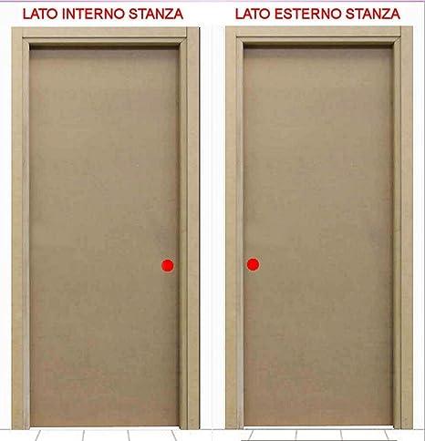 Porta In Kit Mod Liscia Mdf Versione Scorrevole Legno Mdf