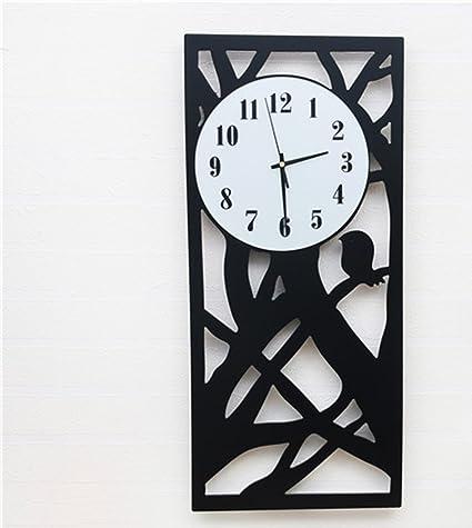 Merveilleux TLMY Rectangular Vertical Wooden Nordic Clocks Living Room Wall Clock Wall  Clock (Color : 1